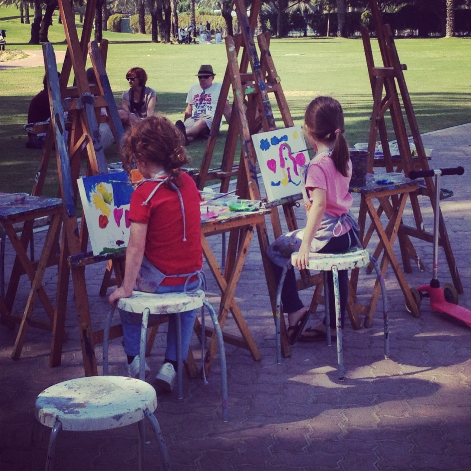 Children Painting in Al Safa Park :)