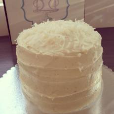 Coconut layered cake
