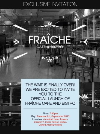 Fraiche launch invitation
