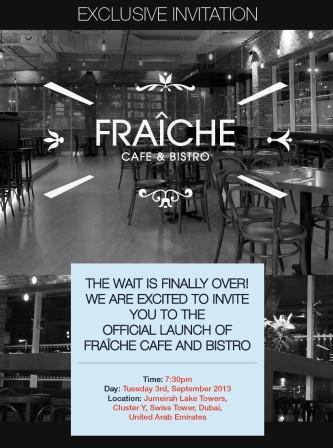 Fraiche launch invitation