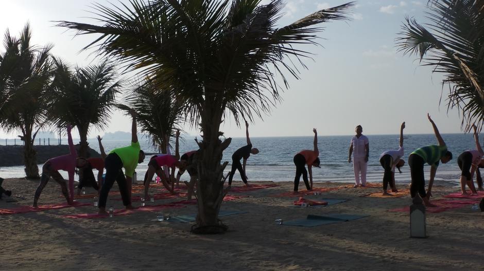Sunset Yoga at Talise Spa