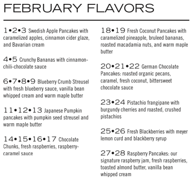 February Flavors